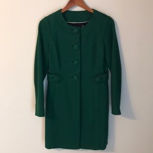 Green women's banana Republic pea coat